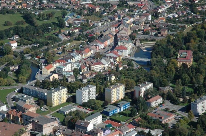 Náměstí v Jaroměři-pohled od jihozápadu