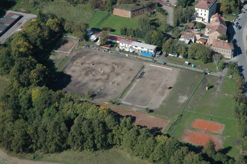 Parkurový areál v Josefově vybudovaný firmou Fassati v prostorách bývalého fotbalového hřiště