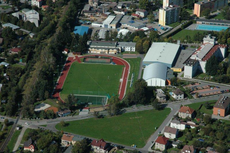 Zrekonstruovaný atletický stadion